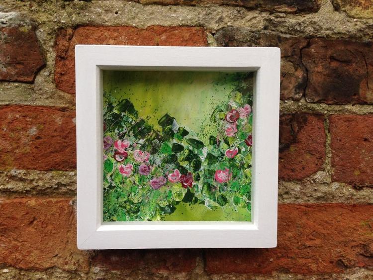 """Pink Flourish"" Framed - Image 0"