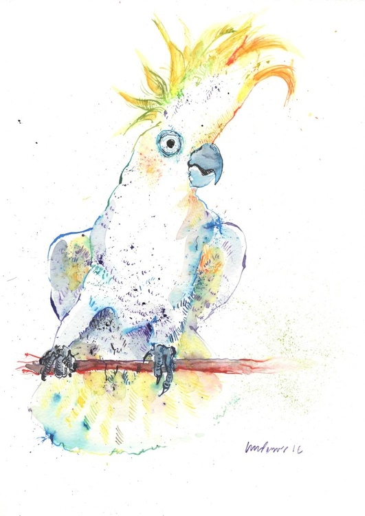 Ink and Watercolour Cockatoo - Daily Bird #59 - Image 0