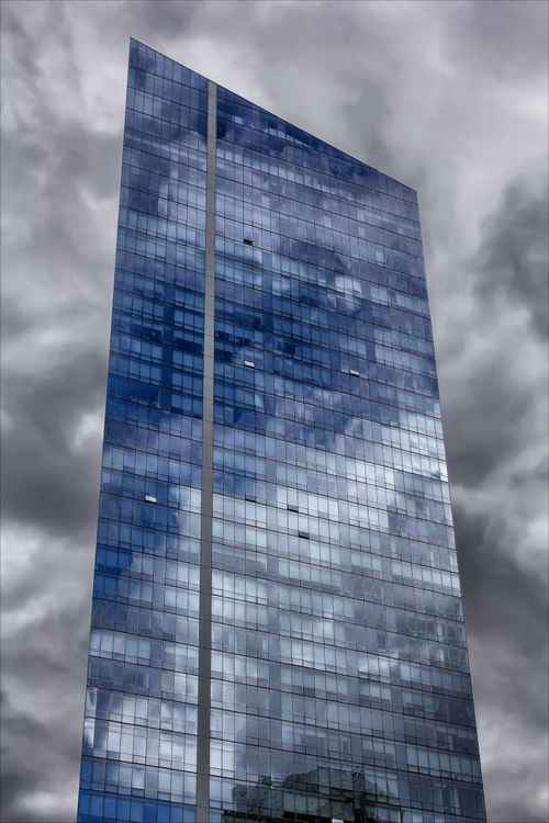Office Building and Clouds