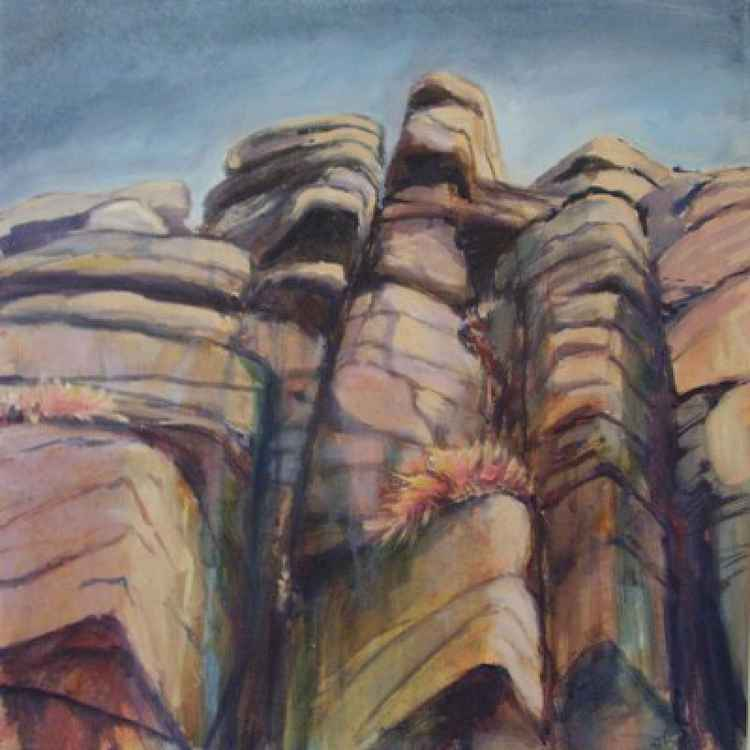 Stanage Edge, crag patterns. -