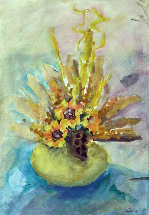 Yellow vase -