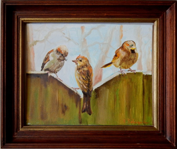 birds on the fence - Image 0