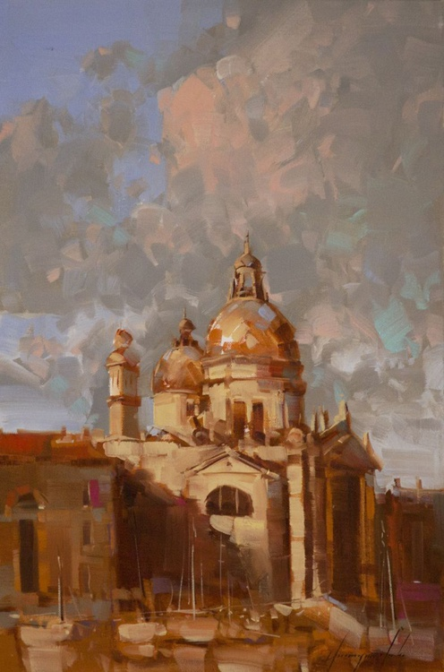 Venice Cityscape oil Painting  Signed One of a Kind - Image 0