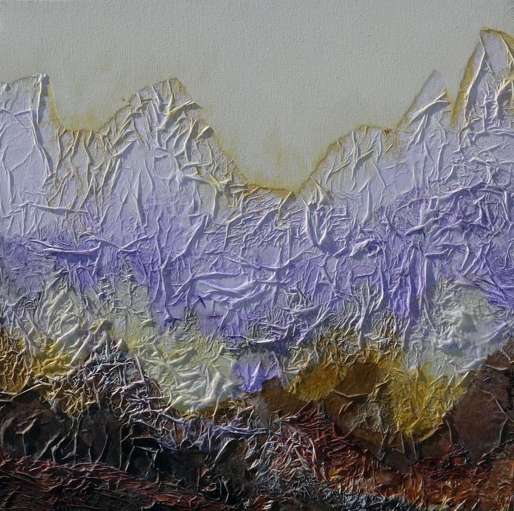 Mountain Peaks - 60cm x 60cm, ready to hang - Image 0