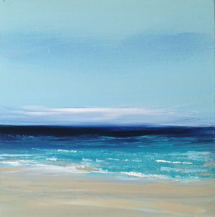 Gorgeous Day - Great gift for Beach Lovers; Modern Art Office Decor Home Seascape - Image 0