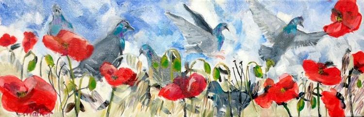 des Pavots et des Pigeons - Image 0