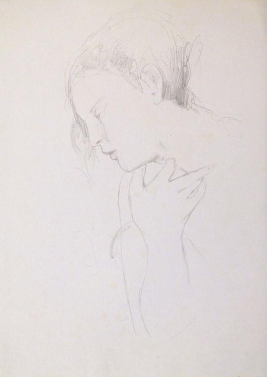 Classical pencil portrait 1, 21x29 cm - Image 0