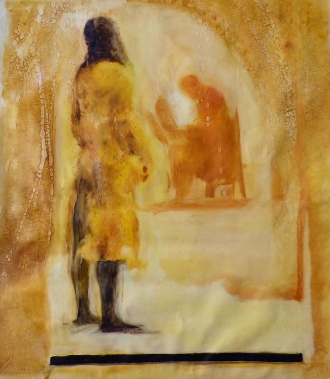 Surprise of Internet, oil on canvas 80x90 cm - Image 0