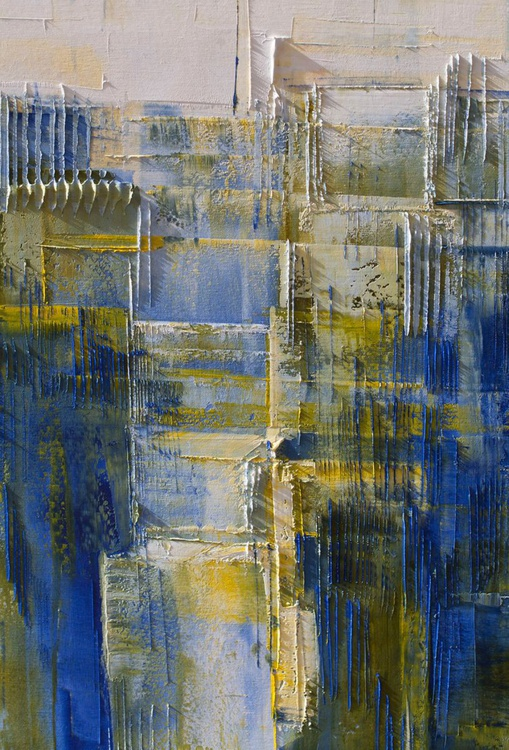 """Abstract painting, 39.37/27.5 inches, (100/70cm). """"City PP"""" - Image 0"""