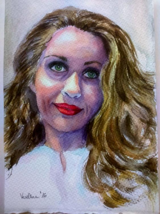 Watercolour portrait painting - Image 0