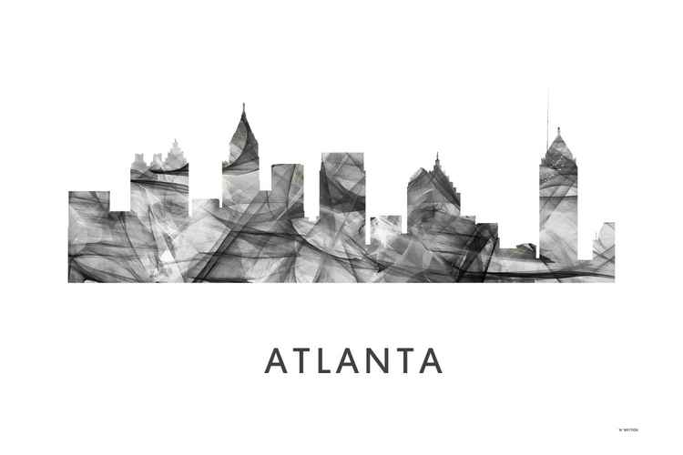 Atlanta Skyline WB BW -