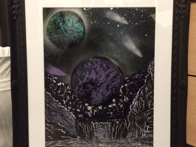 Purple Chaos - Space Painting - Image 0