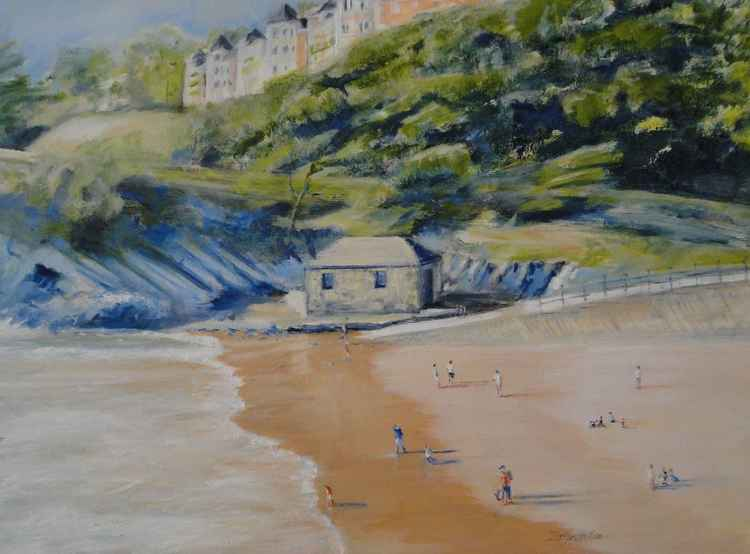 Summers Day on Caswell Beach, Mumbles