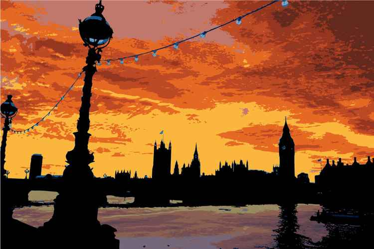 Sunset on the Thames -