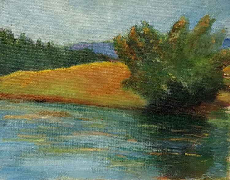 Peaceful Plein Air Lake