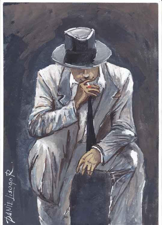 When the men smokes