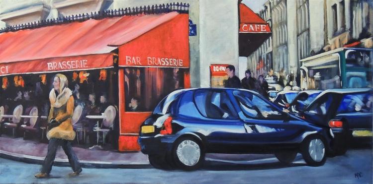 Busy corner, Paris . - Image 0