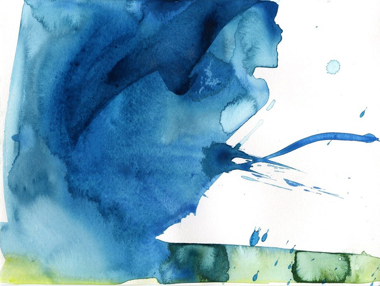 Serenity 7 - Abstract Watercolor Painting by Kathy Morton Stanion - Image 0