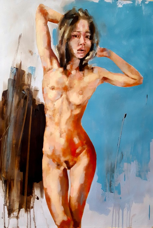 9-7-16 standing figure - Image 0
