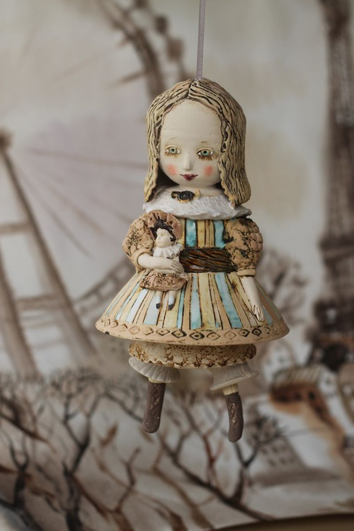 """Girl with a Doll. From """"Le Carousel, Hommage à l'Innocence"""" project by Elya Yalonetski - Image 0"""