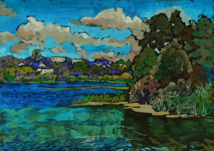 a breeze on the river, 70x50 cm - Image 0