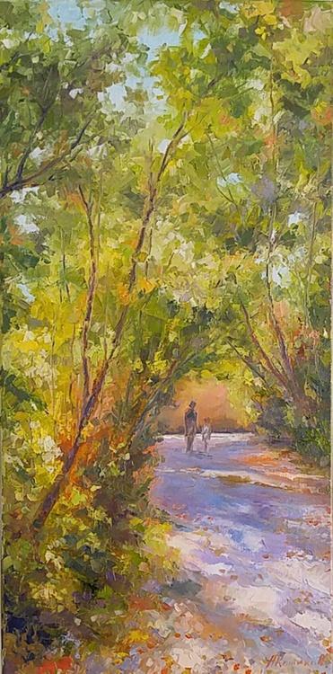 Autumn walk 12x24'' - Image 0