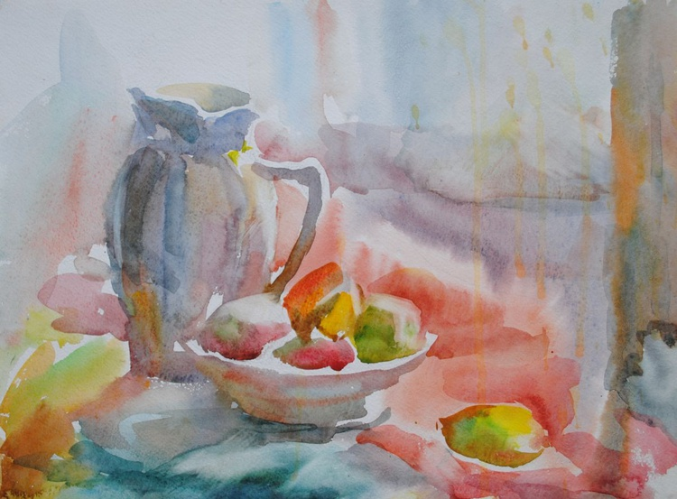Still life with fruits 2 (sketch) - Image 0