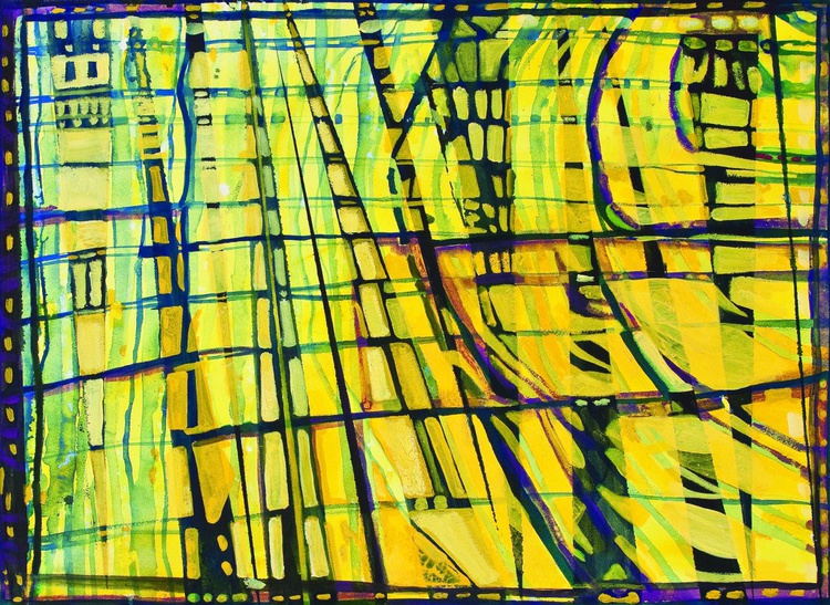 Yellow and Black Grid - Image 0