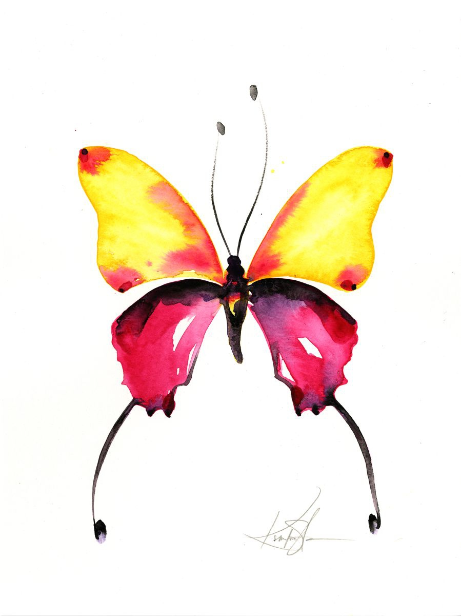 Watercolor Butterfly 9 - Abstract Butterfly Watercolor ...