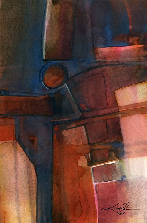 Mystic Wander 7 - Abstract Watercolor Painting - Image 0