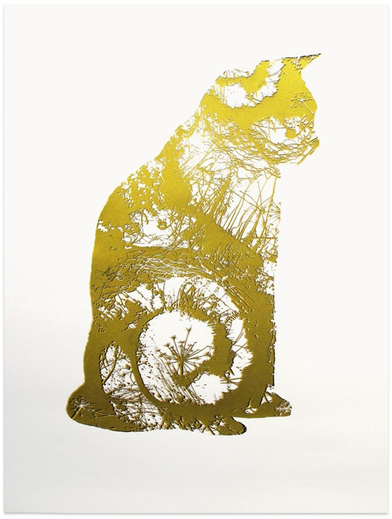 Golden Cat (forth from set of four) - Image 0