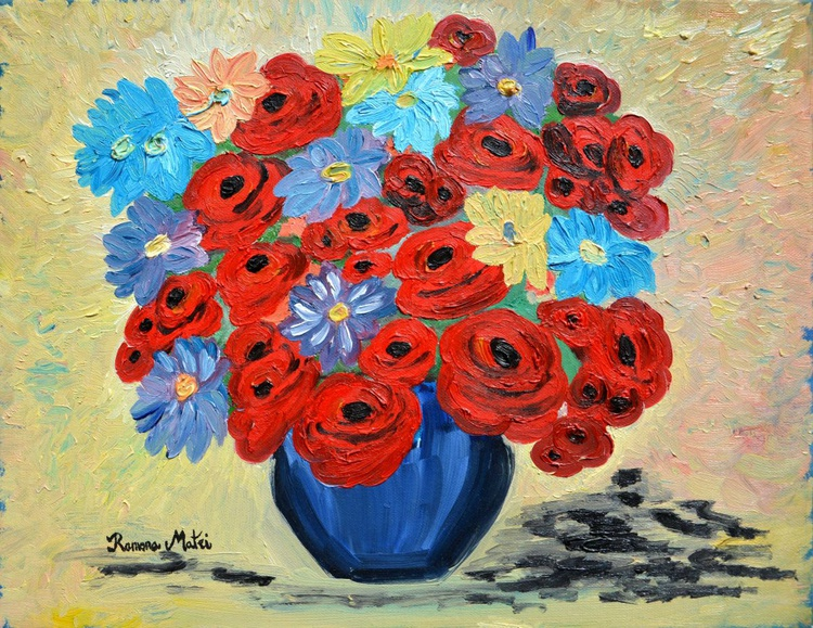 Red Poppies And All Kinds Of Daisies - Image 0