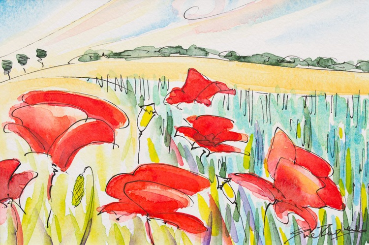 Poppies and Wheat II - Image 0