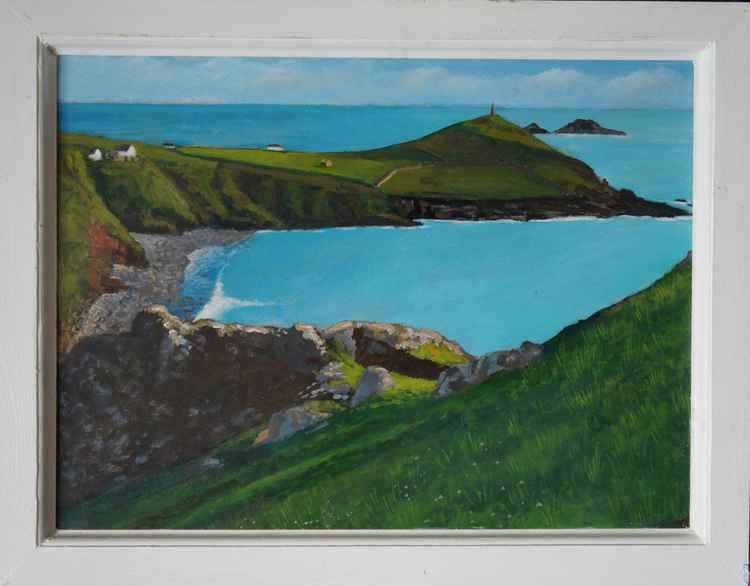 Cape Cornwall from Kenidjack Castle. -