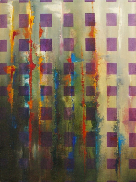 Ab Squares III- Original One of a Kind Contemporary Abstract Oil Painting - Image 0