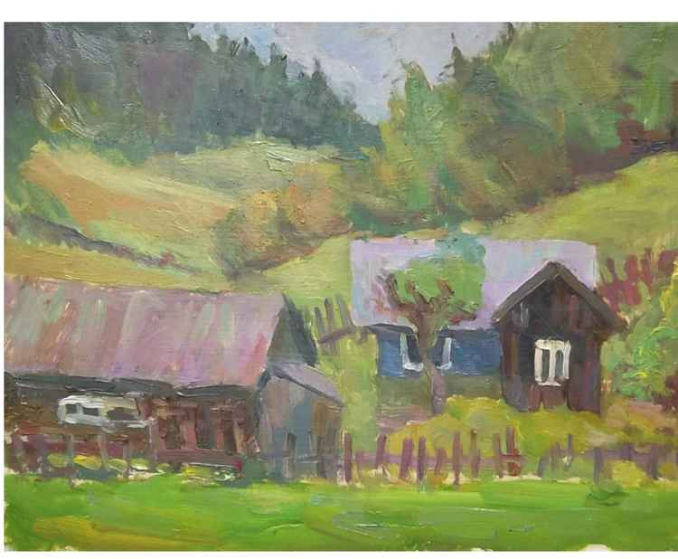 in Carpathian village -