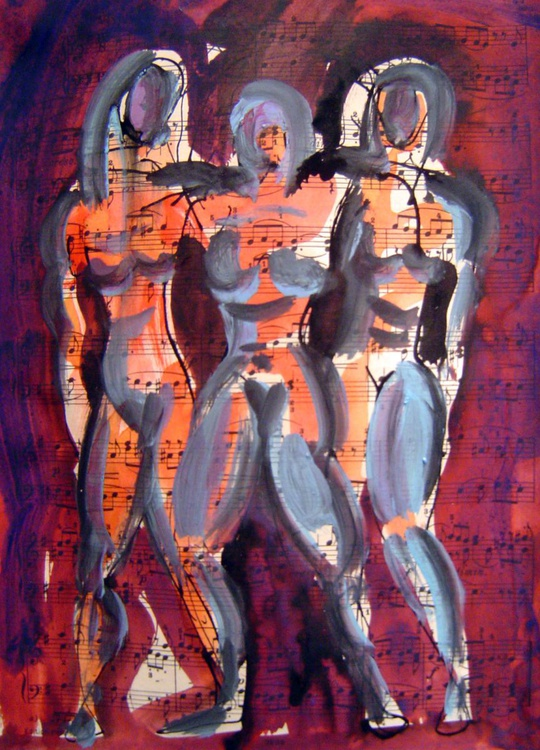 Three Female Figures - Image 0