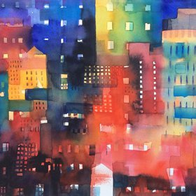 """""""Urban landscape 8 - Shadows and lights, 2016"""" by Alessandro Andreuccetti"""