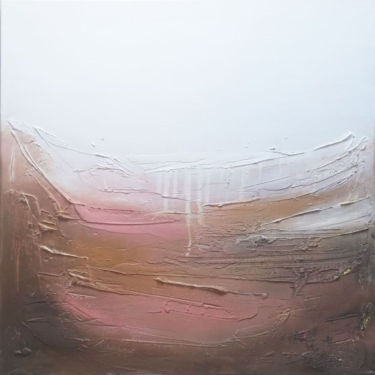 Abstract landscape Textured painting oil on canvas - Image 0