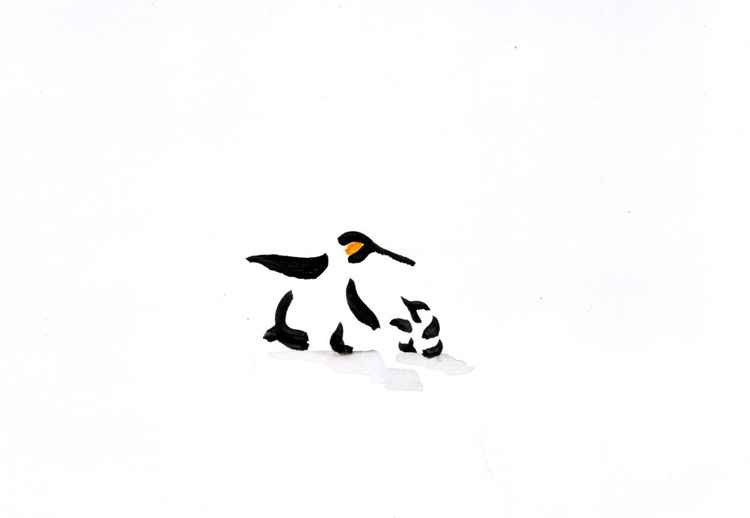 Penguin and a chick