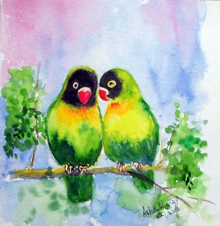 """Two little birds- 8""""x 8.25"""" - Image 0"""