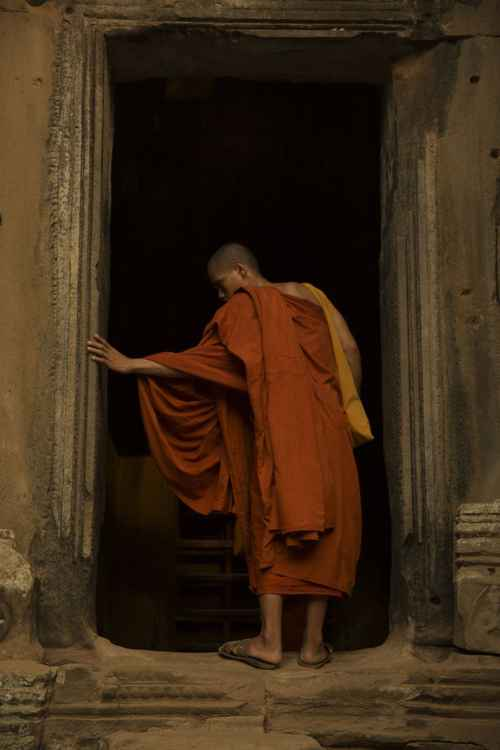 Monk In Doorway