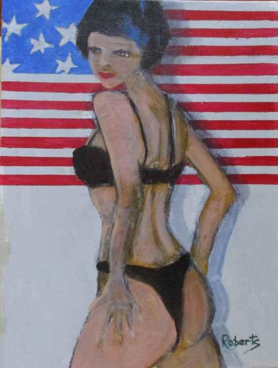 Patriotic babe -