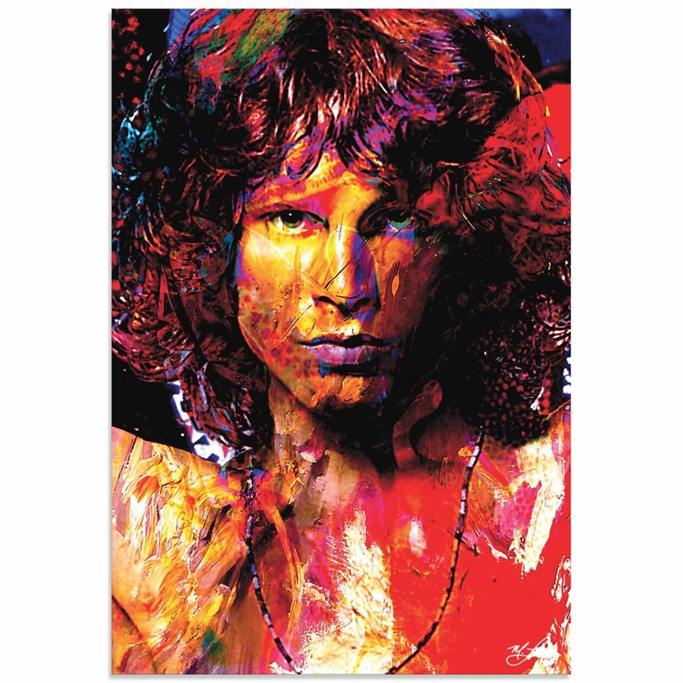 Mark Lewis 'Jim Morrison Window of My Soul' Limited Edition Pop Art Print on Metal - Image 0