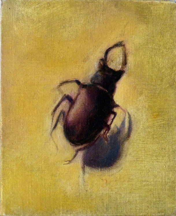 Scarabe, oil on canvas, 27x22 cm - Image 0