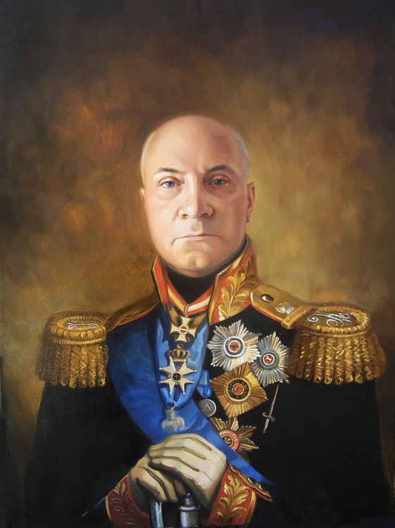 Portrait by order (in costume of General) - Image 0