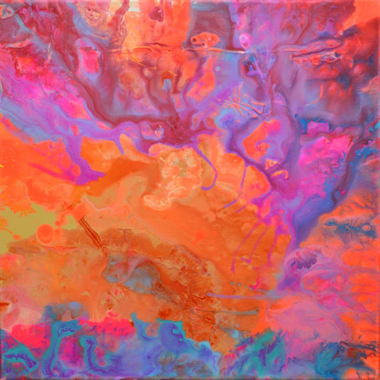 The Second Movement - Abstract Painting - Ready to Hang, Hotel and Restaurant Wall Decoration - Image 0