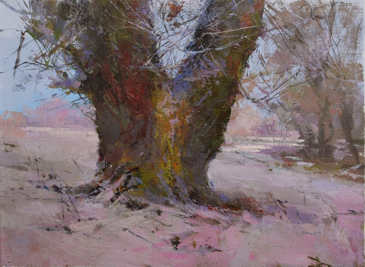 """Winter Painting """" Lace Morning """" ( 398l15 ) - Image 0"""