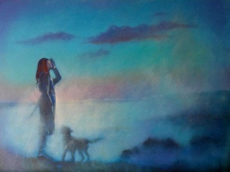 Girl and Her Dog - Image 0