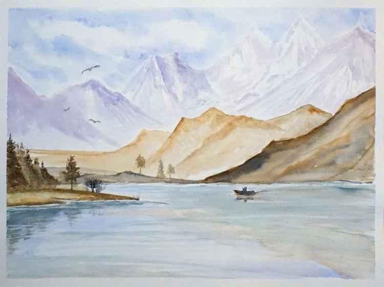 Lake landscape -